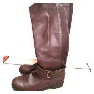 Ladies Dark Brown Delilah Leather Riding Boots